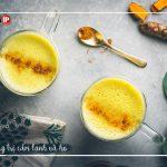7 lợi ích khi uống sữa kèm bột nghệ