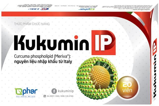 Kukumin IP, viêm loét dạ dày, viêm loét dạ dày cấp và mạn tính, curcumin phytosome, curcuma phospholipid