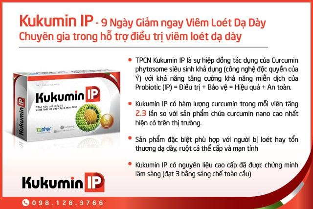 Kukumin IP 9 ngay giam ngay viem loet da day, viêm loét dạ dày và tá tràng,