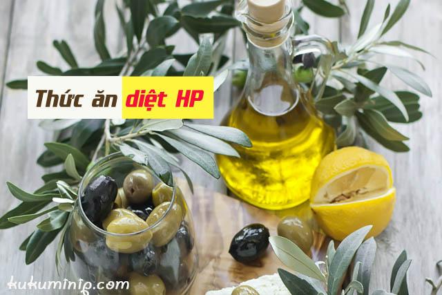 dầu oliu ngăn chặn vi khuẩn hp