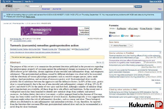 viêm loét dạ dày tá tràng, curcumin, curcumin phytosome