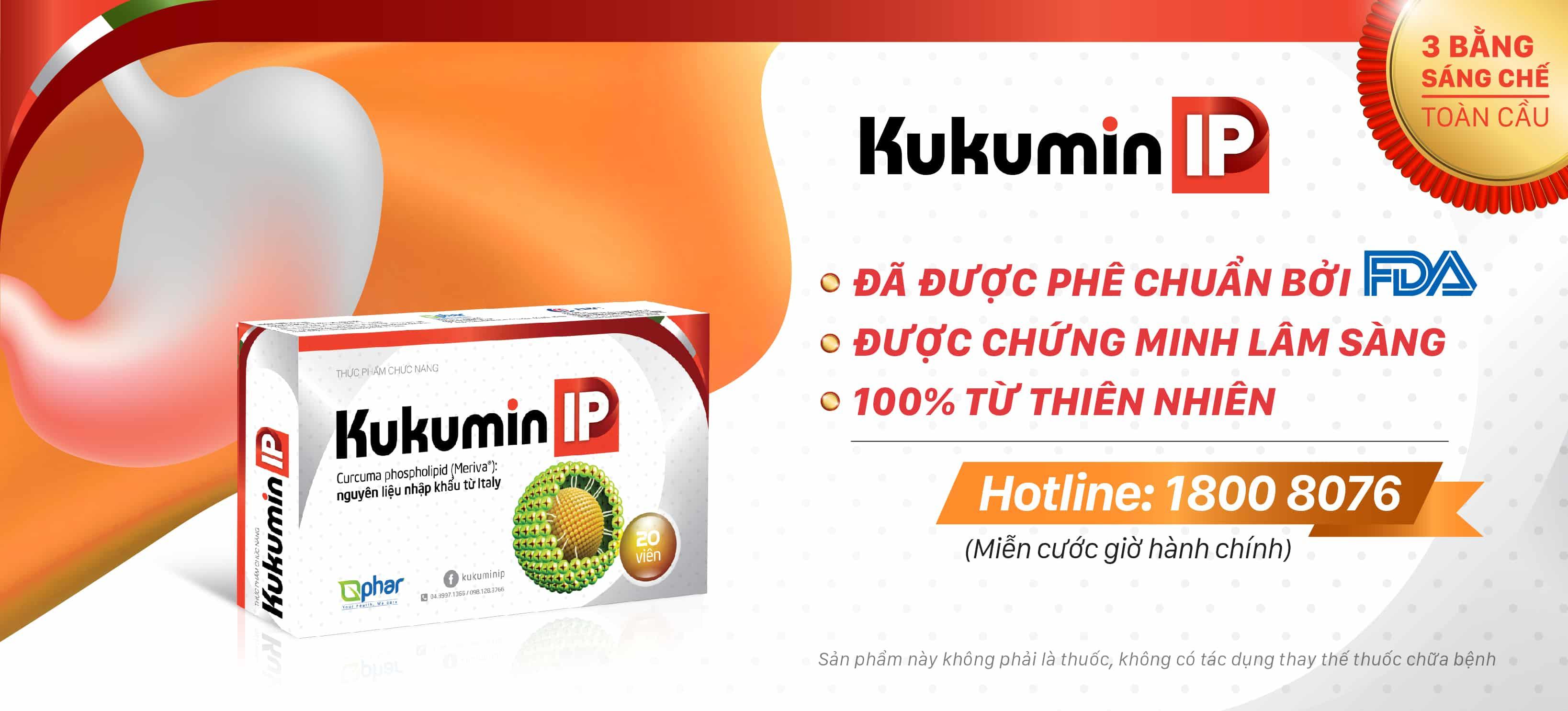 kukuminip, viêm loét dạ dày, trào ngược dạ dày, curcumin phytosome