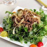 Món ngon cho người bị trào ngược – Gỏi thịt bò trộn rau càng cua