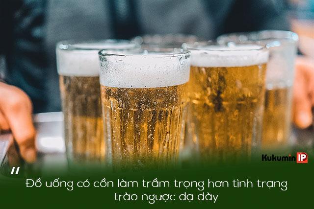 Rượu bia là đồ uống bệnh trào ngược nên tránh