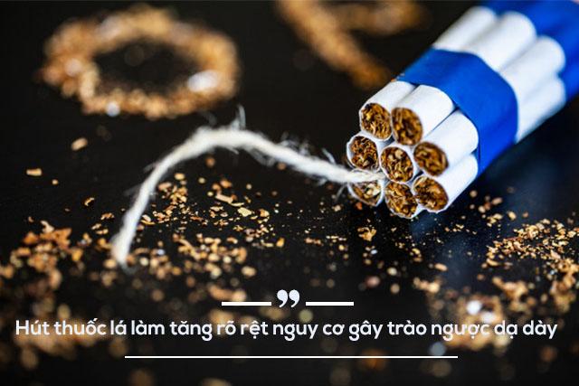 thuốc lá là một yếu tố ảnh hưởng trào ngược dạ dày thực quản rất nhiều
