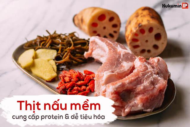 Các món ăn từ thịt nên được nấu mềm để phù hợp với người loét dạ dày
