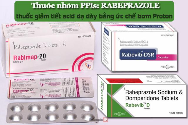 Thuốc giảm tiết acid dạ dày Rabeprazole