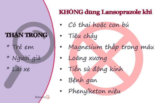 lưu ý khi dùng Lansoprazol để điều trị trào ngược dạ dày
