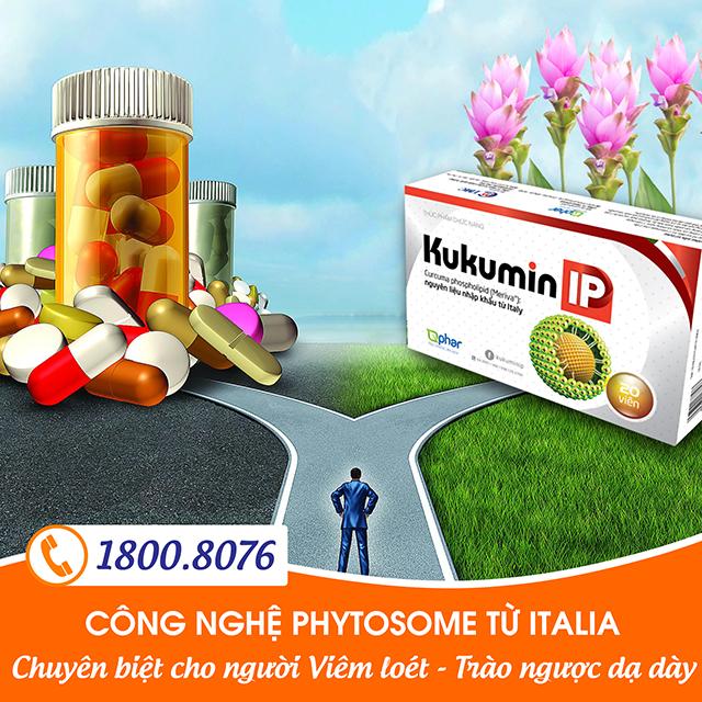 Kukumin IP cho người viêm loét trào ngược dạ dày