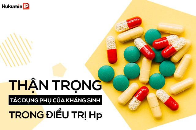 tác dụng phụ của kháng sinh trị vi khuẩn Hp