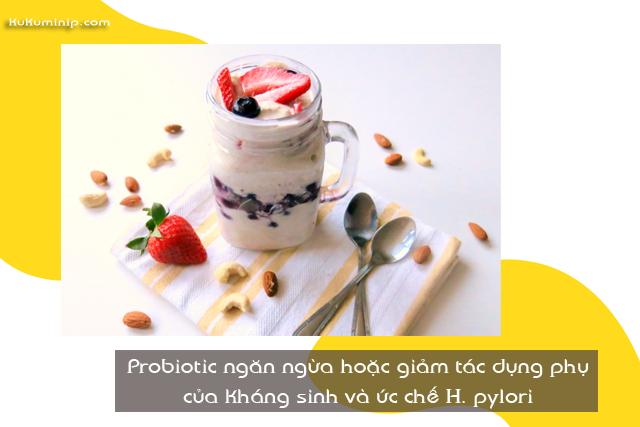 tác dụng men vi sinh với H. pylori